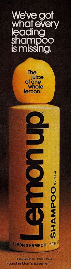 lemon up shampoo. remember the big lemon top. did you do anything creative with it afterwards?