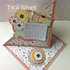 Sale-A-Bration Twisted Easel Calendar by The Speckled Sparrow