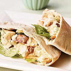 Pineapple Chicken Salad Pitas | CookingLight.com