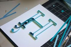 Quilled monogram from Craftastical!  This is in the process of being made.