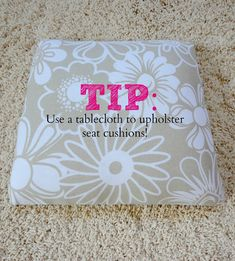 Upholstery Tips & Tricks!
