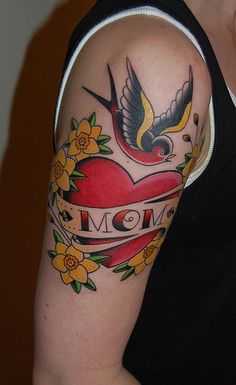 traditional mom tattoo on the arm