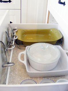 pot lid, idea, pan lid, deep kitchen drawers, organ