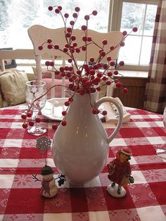 I believe I have thiscute Christmas table clothe. Love red and white for the holiday!