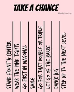 Take a chance in class . .