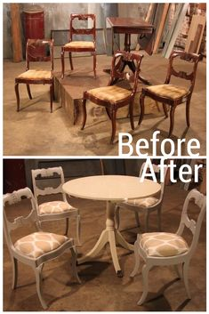 Drop-Leaf Table and Chairs Become Chic after Paint