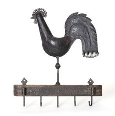 Antique Rooster Hanging Rack - $425