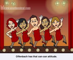 If classical music composers used Bitstrips - Offenbach