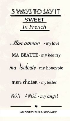 Love your French