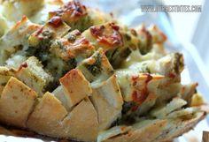 Cheesy pesto garlic bread! Yum!