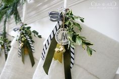 embellishing simple white stockings