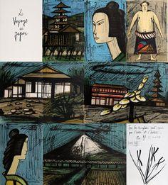 Bernard Buffet, Le Voyage Au Japon, cover of the portfolio , 1981