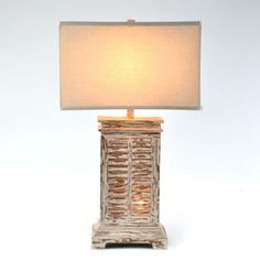 Weathered White Shutters Lamp