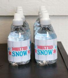 """Melted Snow"" at a Winter Wonderland Party  #winterwonderland #drinks"