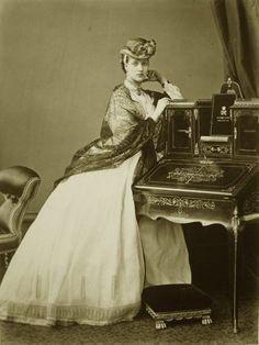 Princess Alexandra of Wales. Late 1860s.