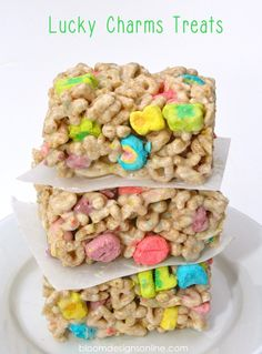 diy treats, st patricks day desserts, cooking desserts, holiday treats, lucky charms treats, charm treat, easy diy desserts, rice crispy treats, lucki charm