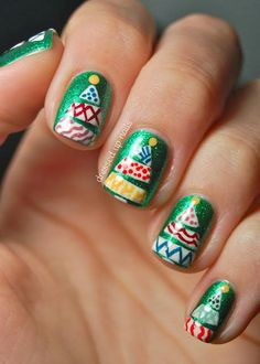 """Check out  """"Funky Christmas Tree Nail Art - China Glaze Running In Circles"""" Decalz @Lockerz.com"""