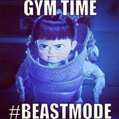 Gym time beast mode