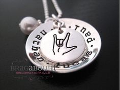 Hand Stamped Jewelry  Personalized Jewelry  by BragAboutIt on Etsy, $64.00
