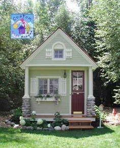 anni hous, cottag, little houses, girl playhous, playhous idea, loft, play hous, illl live, garden