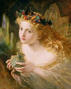 """Sophie Anderson (1823-1903) """"Take the Fair Face of Woman"""" 