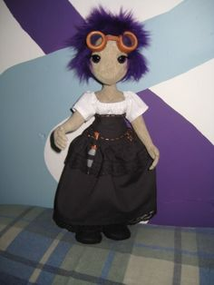 Purple Haired Steampunk Poppet! *Img huge* - TOYS, DOLLS AND PLAYTHINGS- Knitting, sewing, crochet, tutorials, children crafts, papercraft, jewlery, needlework, swaps, cooking and so much more on Craftster.org toy, steampunk craft, child crafts, children craft