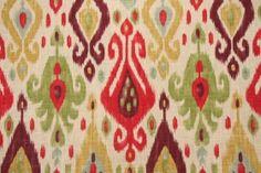 Richloom ikat back in stock at Karen's Fabrics.