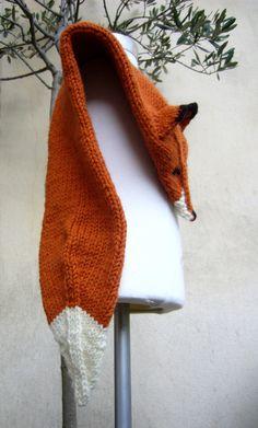 Handknit Fox Scarf