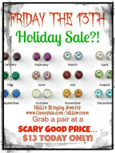 Nikki's Blinging Jewelry (FB) www.liasophia.com/nikkiworam **All purchases today get entered into a FREE piece of BLING!**