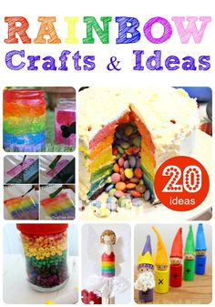 Fabulously bright and cheerful RAINBOW CRAFTS! What is not to like?! Perfect for an St Patrick's Day plans too.