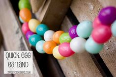 Quick and Easy Easter Egg Garland