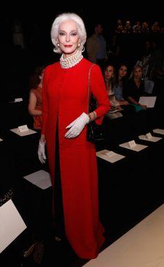 Carmen Dell'Orefice New York fashion week