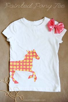 Painted Pony T-Shirt made with Cricut Explore - Sweet Rose Studio. #DesignSpaceStar Round 2