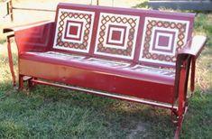 metal vintage porch glider
