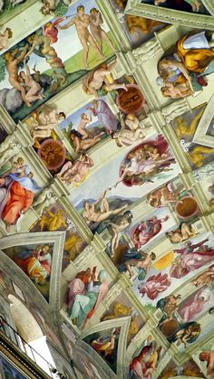 Ceiling detail of the Sistine Chapel. The Sistine Chapel is the best-known chapel in the Apostolic Palace, the official residence of the Pope in Vatican City.