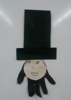 Cute construction paper craft idea for Presidents Day! - Lincoln