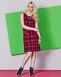 We love this tartan print! #GrungeGlamourGirl fashion sens, apron fashion, red check, perfect dress, dresses, check pinafor, style dress, pinafor style, print