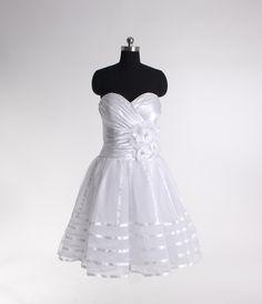 Elegant Sleeveless A-line Tea-length bridal gowns.... This was my wedding dress :)