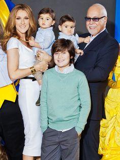 Celine Dion & family