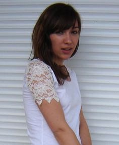 Cute t-shirt re-fashion with lace