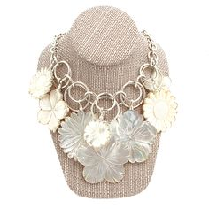 Coreen Cordova Mother of Pearl Flower Necklace at Maverick Western Wear