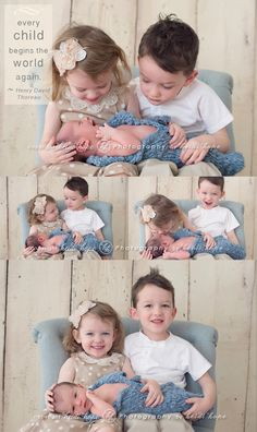 newborn photos with siblings - adorable!