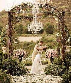 romantic outdoor ceremony.
