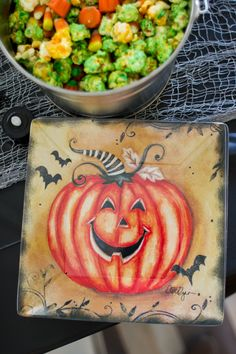 Decorative dinnerware from Cracker Barrel adds a festive touch to your Halloween party or family dinner.