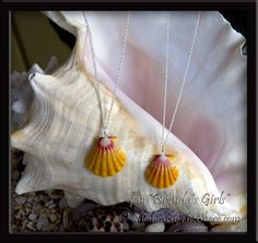 Sunrise Shells & Swarovski Crystal Necklaces from Hawaii