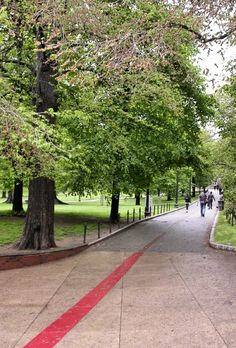 Freedom Trail Begins at Boston Common, Boston, Massachusetts - The 2.5 mile Freedom Trail connects 16 historical colonial and revolutionary-era sites by red sidewalk bricks.- Someday I will get to see this.