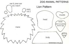 Plantilla per fer lleó. lion paper, diy craft, bing imag, papers, lions, scrapbook, printabl, piec pattern, paper piecing patterns