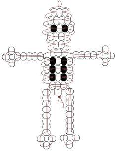 skeleton beadie pattern