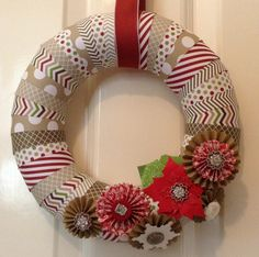 Stampin Up Christmas Wreath
