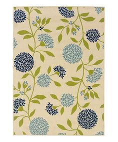 Take a look at this Ivory & Blue Dandelion Hyrcania Rug by Oriental Weavers on #zulily today!